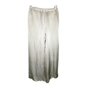 ENRICA drawstring silk pants size 38 wide leg